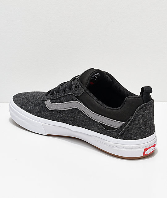 Vans Kyle Walker Pro Black, Pewter & White Denim Skate Shoes