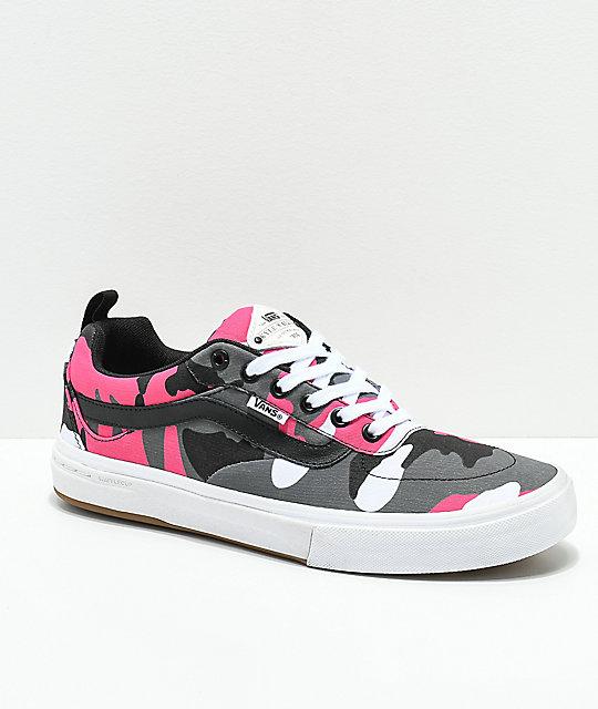9c3595489745f1 Vans Kyle Walker Pro Black   Magenta Camo Shoes