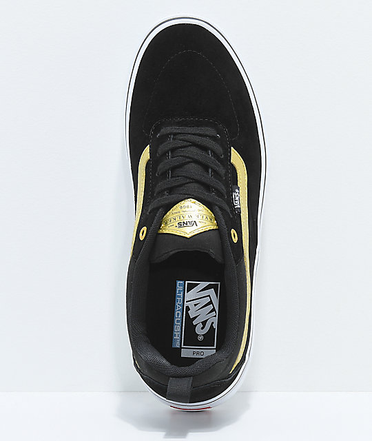Vans Kyle Walker Pro Black & Metallic Gold Skate Shoes