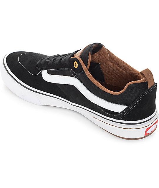 96b374487dc ... Vans Kyle Walker Pro Black and Gum Skate Shoes ...