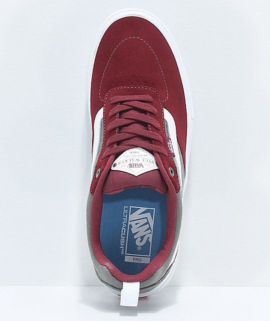 13387c8ee4 ... Vans Kyle Walker Pro Cabernet   Pewter Skate Shoes ...
