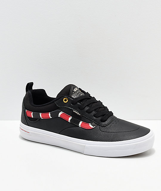 bee0cb428c Vans Kyle Walker Pro Coral Snake   Black Leather Skate Shoes