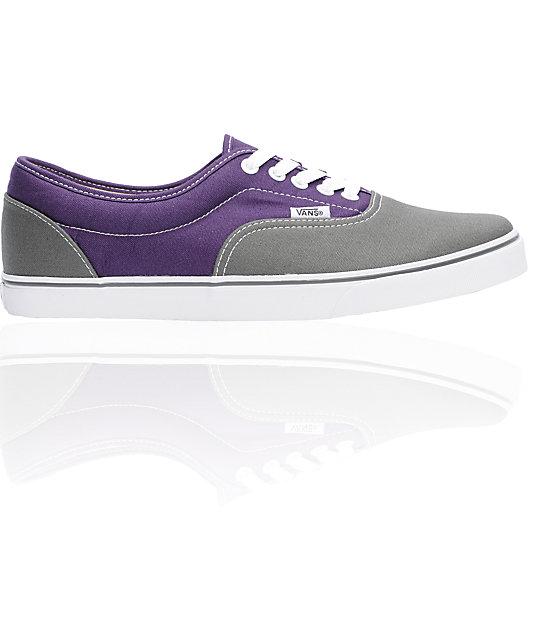 cf088e95e96 Vans LPE Dark Grey   Purple 2Tone Skate Shoes