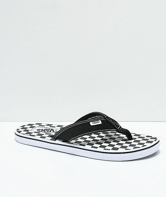 25edfe9bddf15b Vans La Costa Checkerboard Black   White Sandals