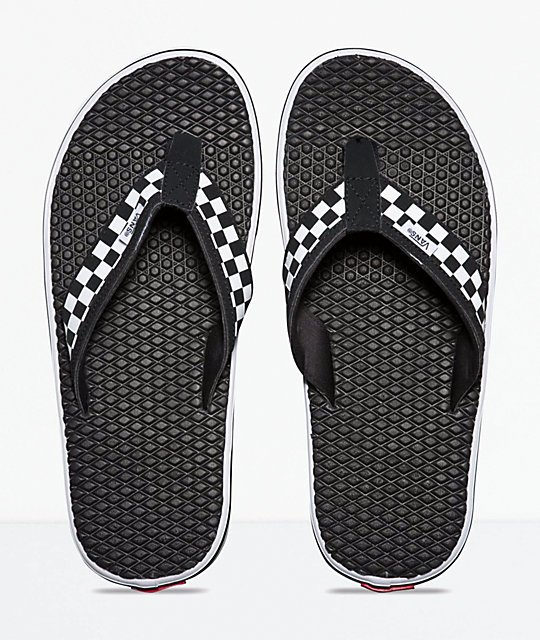37eff554a906 ... Vans La Costa Lite Checkerboard Black   White Sandals ...