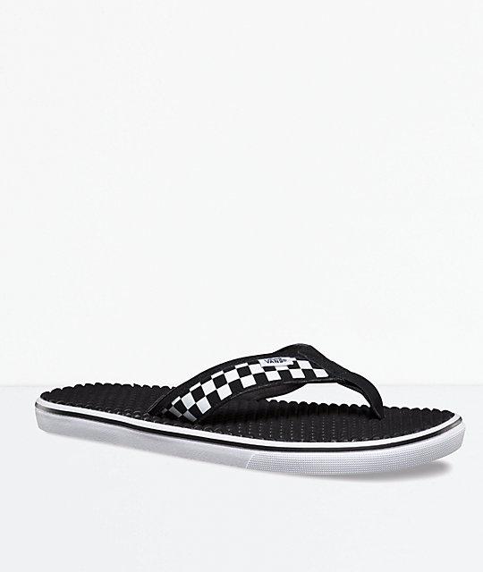 c00462bd83 Vans La Costa Lite Checkerboard Black   White Sandals