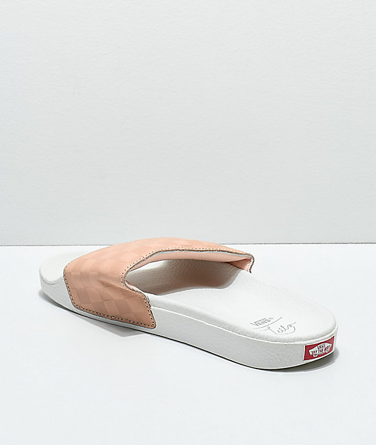 Vans Leila Hurst White & Amberlight Slide Sandals