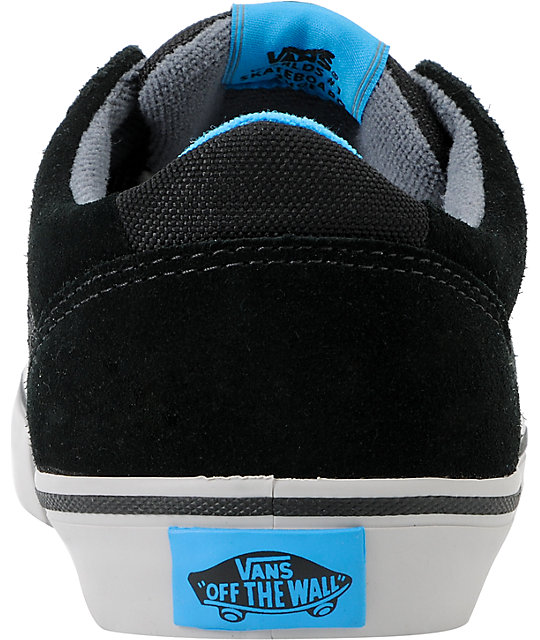 Vans Lindero Black, Pumice & Blue Skate Shoes