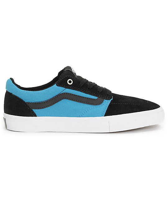Vans Lindero Black & Cyan Skate Shoes
