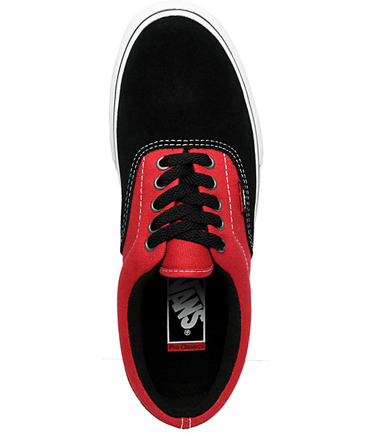 Vans Lo Pro Era Black & Tuff Red Skate Shoes