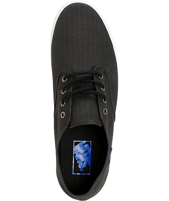 Vans Madero Black Washed Ripstop Skate Shoes