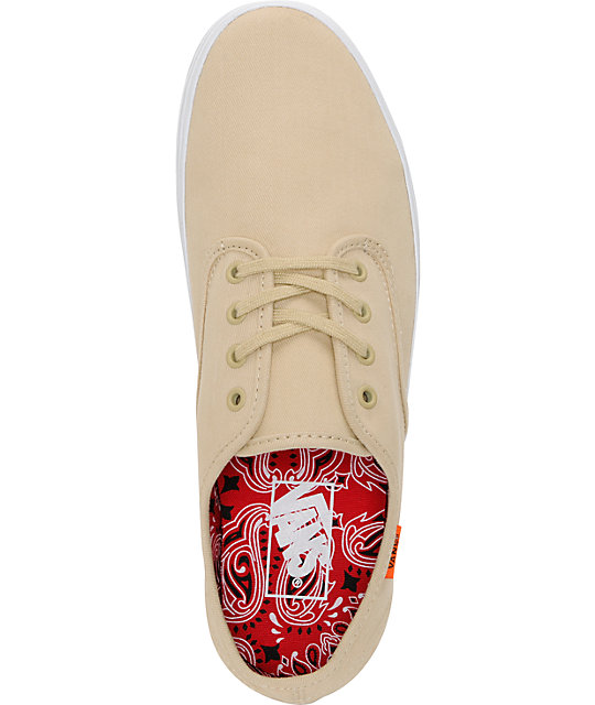 Vans Madero Twill Taupe Skate Shoes