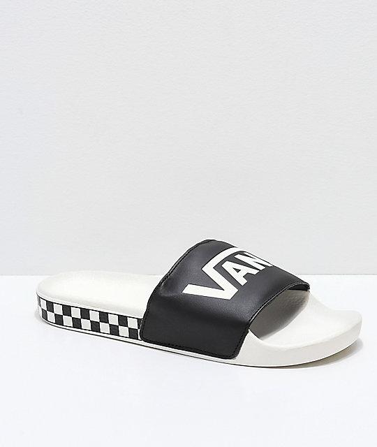 amplia selección de colores elige mejor estilo limitado Vans Marshmallow sandalias a cuadros en negro y blanco