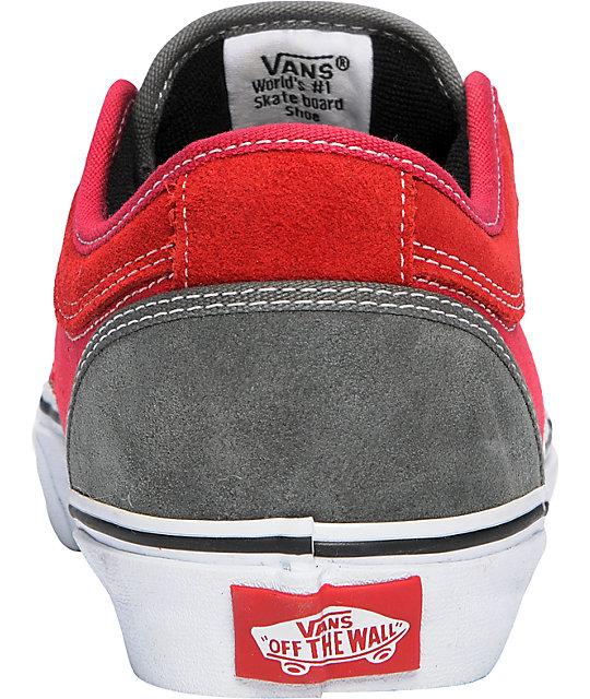 08510a3829 ... Vans Massimo Cavedoni Chukka Low Grey   Red Skate Shoes ...