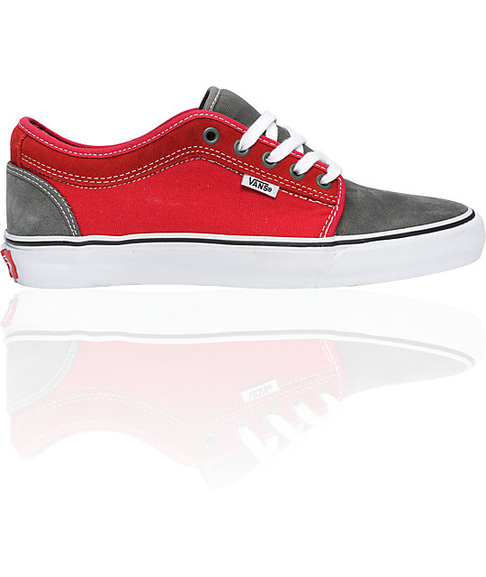 3df5a0a930 Vans Massimo Cavedoni Chukka Low Grey   Red Skate Shoes