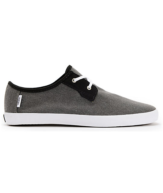 Vans Michoacan Grey Herringbone Slip On Skate Shoes