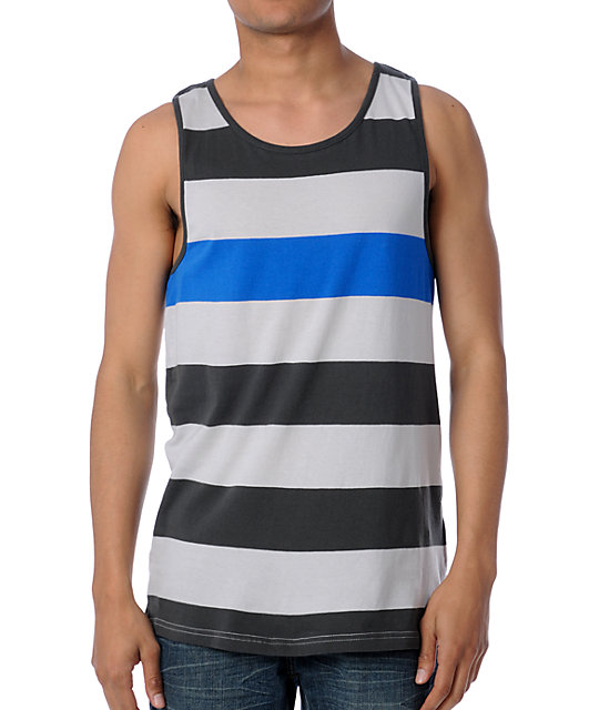 Vans Miscellany Grey Striped Tank Top