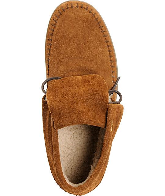 c388499303 ... Vans Mohikan Mid Brown   Fleece Slip On Shoes ...