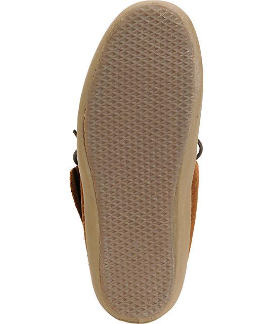 581cec8ef4 ... Vans Mohikan Mid Brown   Fleece Slip On Shoes ...
