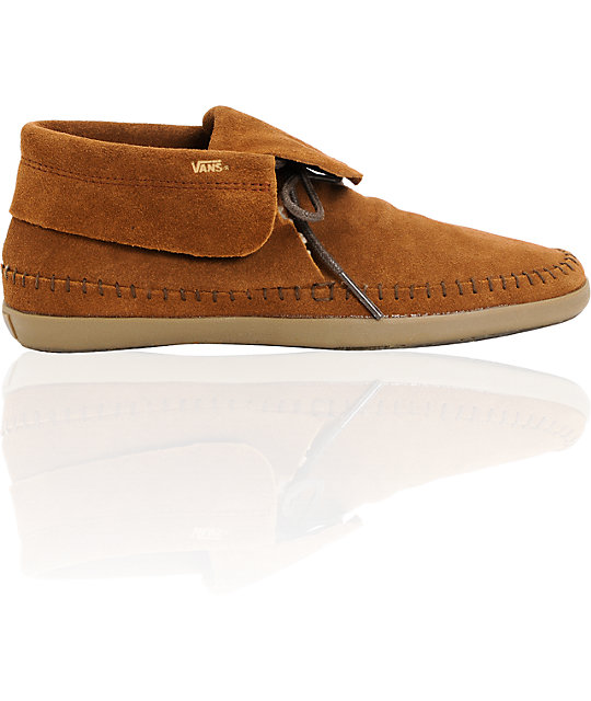 Vans Mohikan Mid Brown & Fleece Slip On Shoes