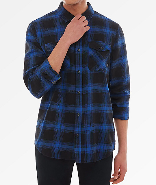 45237caa79 Vans Monterei III Blue & Black Flannel Shirt