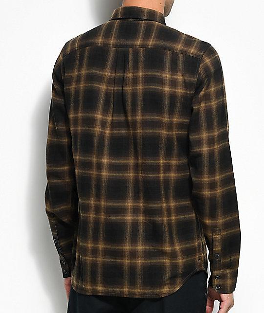 d4543ec32c7 Vans Monterey II Brown Flannel Shirt