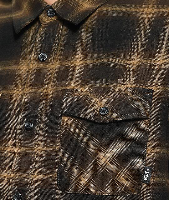 01b7c441190 ... Vans Monterey II Brown Flannel Shirt ...