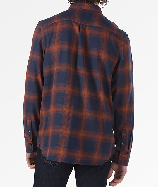 Vans Monterey III Blue & Orange Flannel Shirt