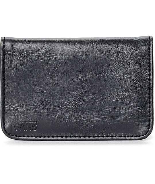 vans mosley black cardholder bifold wallet - Bifold Card Holder