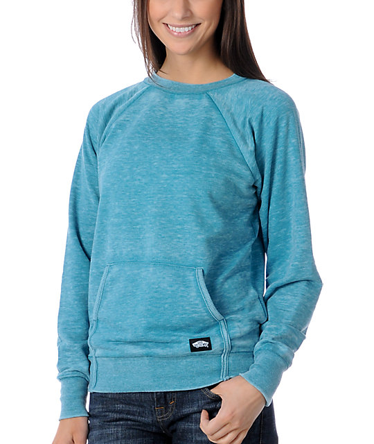 Vans Motion Teal Crew Neck Sweatshirt