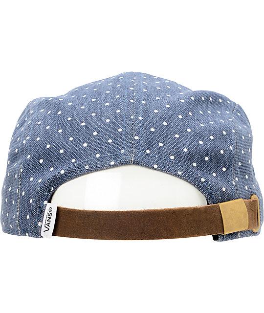 81da2831c81 ... Vans Navy Dot Camper 5 Panel Hat