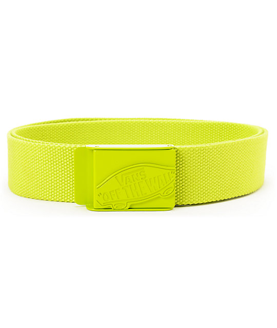 Vans Neon Lime Green Conductor Web Belt