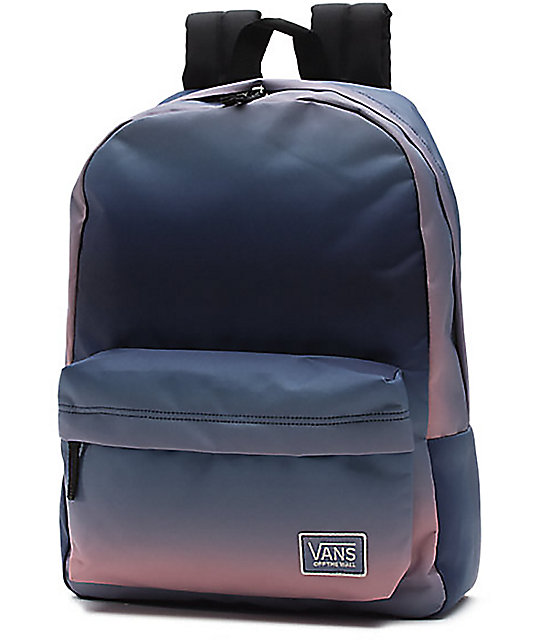 5a6959acc2 Vans New Patch Realm Blue Eclipse 22L Backpack