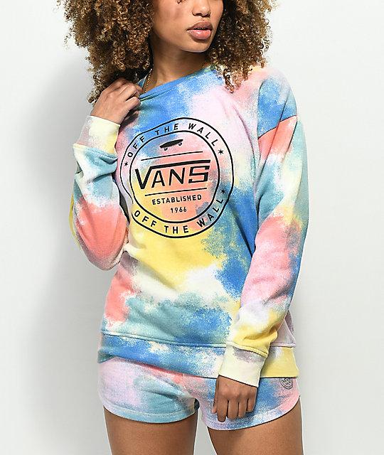 ecbe692ed5 Vans Newhouse Tie Dye Crew Neck Sweatshirt