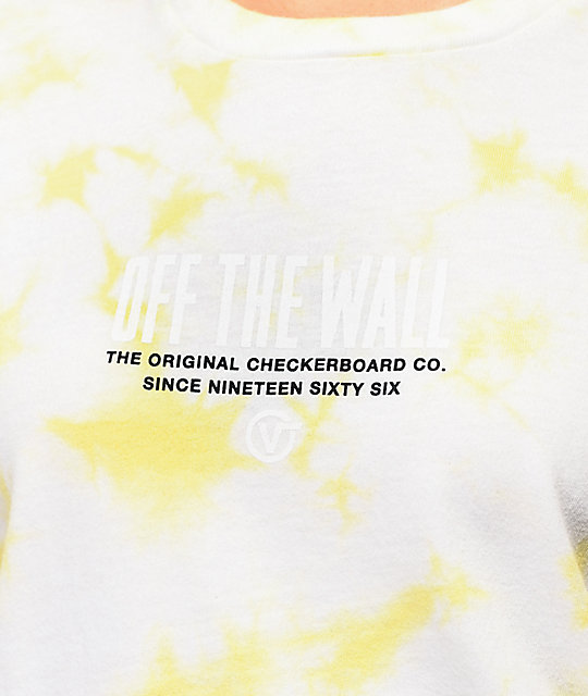 Vans OG 66 Yellow Washed Tie Dye T-Shirt
