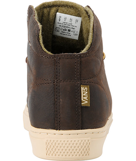... Vans OTW Alcon Brown Leather Mens Work Boots ... c9bbd44a3
