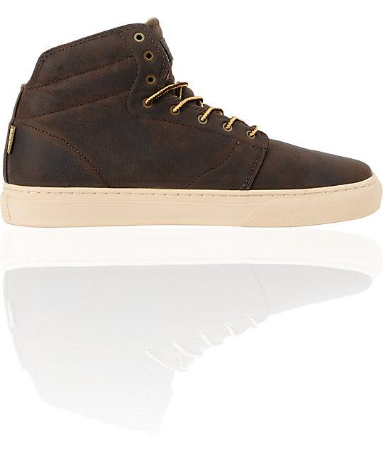 Vans OTW Alcon Brown Leather Mens Work Boots  ec32b029a