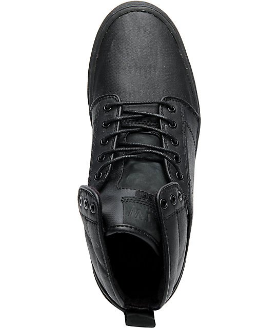 2422ec265f ... Vans OTW Alomar Black Wax Canvas Skate Shoes ...