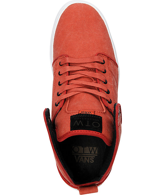 Vans OTW Alomar Red Stone Washed Canvas Skate Shoes