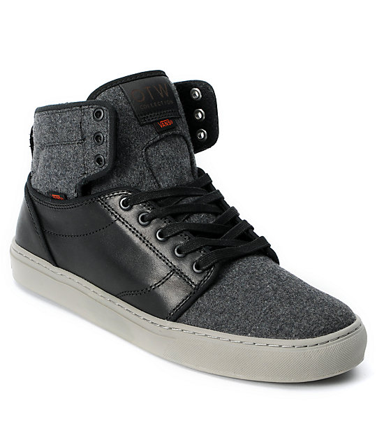 ecf0cfd22a Vans OTW Alomar Wool   Black Leather Skate Shoes