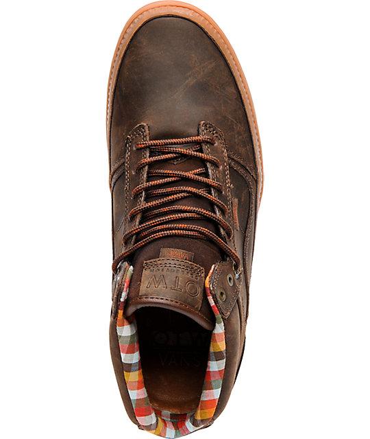 0988742687 ... Vans OTW Bedford Brown Leather   Gum Skate Shoes ...