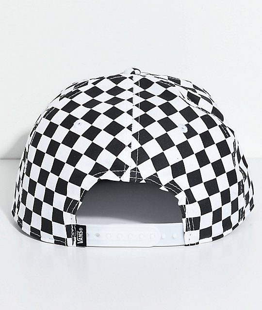 51840e60 Vans OTW Black & White Checkered Snapback Hat | Zumiez