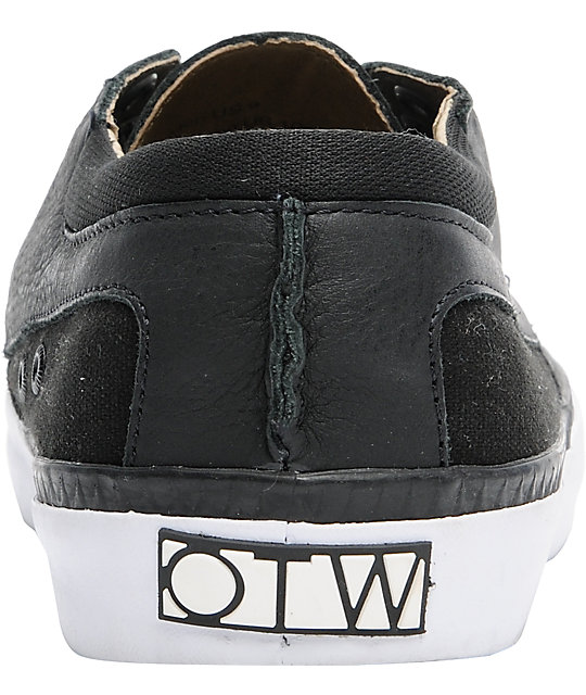 873f2630af ... Vans OTW Cobern Black Leather Skate Shoes ...