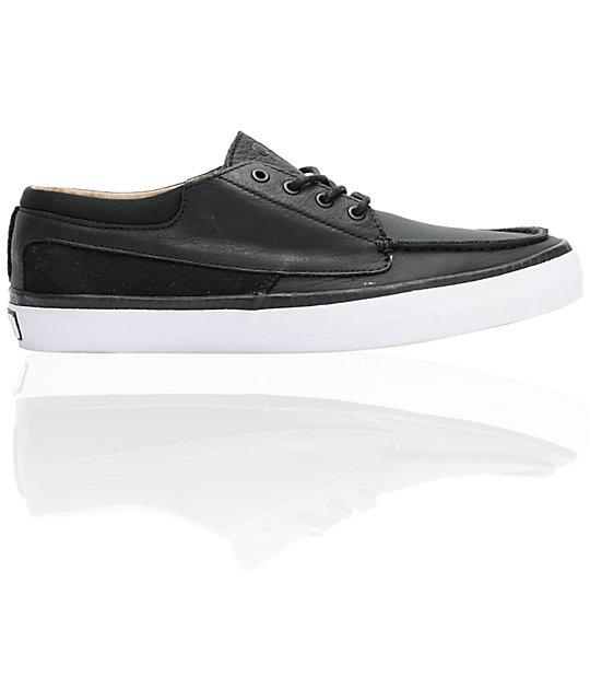 faff1f49ba Vans OTW Cobern Black Leather Skate Shoes