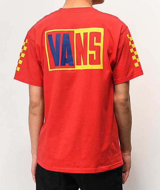 Vans OTW Colorblock & Rally camiseta roja