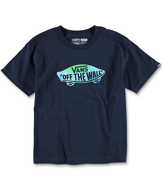007cea2a9f Vans OTW Logo Fill Boys Navy T-Shirt