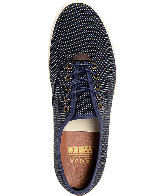Vans OTW Woessner Blue Stripe Wool Skate Shoes