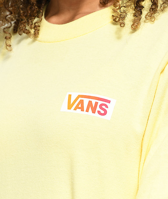 ... Vans OTW camiseta de manga larga amarilla y rosa ... 5c4a27e7a59