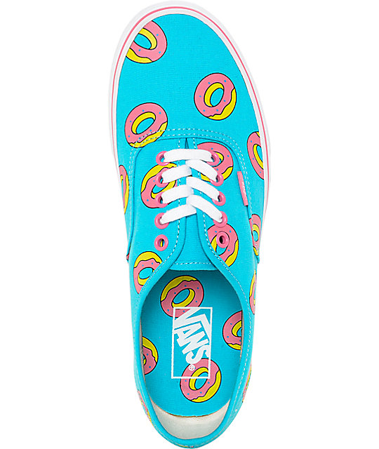 53da7cfce7bd ... Vans Odd Future Authentic Scuba Blue Donut Shoes ...