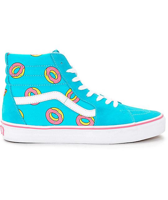 c08c0d0cd4b6 ... Vans Odd Future Sk8-Hi Scuba Blue Donut Shoe ...